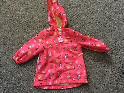 952da086d GIRLS COAT BABY PEPPA Pig Hooded Padded Winter Puffa Style 12 Months ...