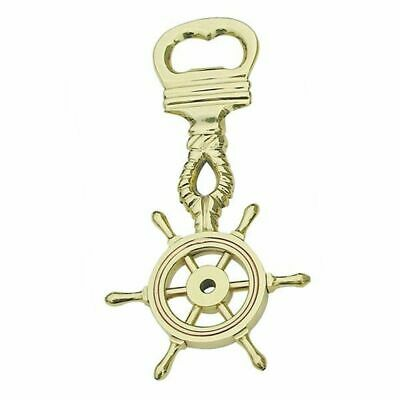 G4414: Maritime Bottle Opener Steering Wheel, Cap Lifter Polished Brass