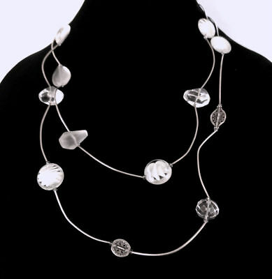 Silpada Sterling Silver Quartz and Glass Accented long necklace - N2324 Retired