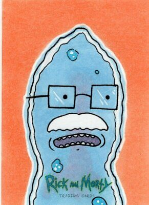 2018 Cryptozoic Rick and Morty Color Hand Drawn Sketch Card by Caleb King