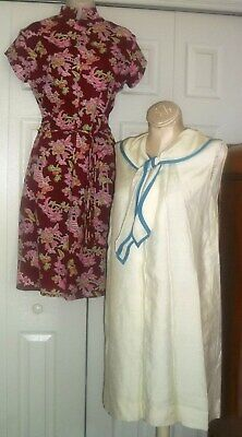 Vintage 60s 70s Dress Blouse Tops Sweater Nightie Day Formal Lot