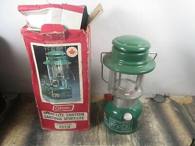 Coleman Lantern 321B  Green Dated 1 - 79  No Reserve