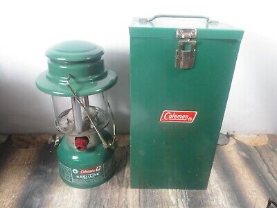Coleman Lantern 321C  Green  W / Case Dated 2 - 83  No Reserve