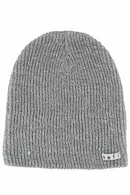 best website 036f1 ae57e Unisex Mens Neff Grey Heather White Beanie Toque Winter Knit Hat New