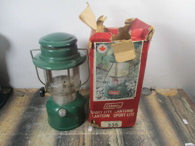 Coleman Lantern 335  Green Dated 1 - 77  No Reserve