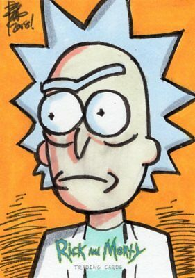 2018 Cryptozoic Rick and Morty Color Hand Drawn Sketch Card by Brian Kong