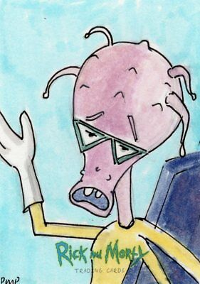 2018 Cryptozoic Rick and Morty Color Hand Drawn Sketch Card by Artist Unknown 5