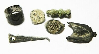 Zurqieh -As10938- Ancient Holy Land. Lot Of Ancient  Items. 200 - 300 A.d