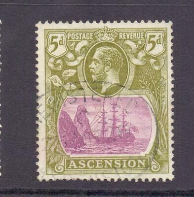ASCENSION 1924-33 KGV SG15d 5d Purple and Olive Fine Used Cat £26