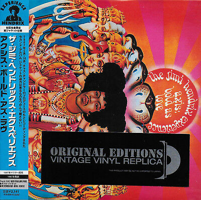 JIMI HENDRIX EXPERIENCE - Axis: Bold As Love EX COND Mini LP CD Japanese Import