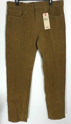 f2125b19cfe101 Levis 502 Mens Brown Regular Taper Corduroy Pants Size 36x34 36x33 P1020