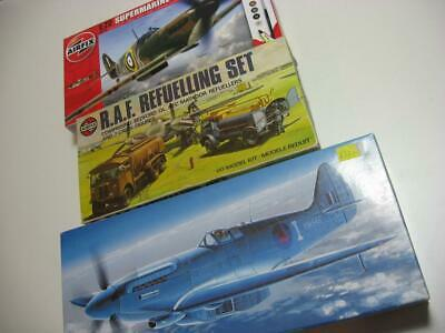 Spitfires Airfix & Fujimi & Airfix RAF refueling set job lot 1/72 model kits
