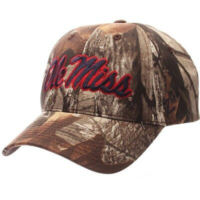 75692e2f4ff Ole Miss Rebels Mississippi Ncaa Zephyr Staple Camo Osfm Structured Hat Cap  New