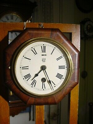 "Antique Rare Waterbury 1891 ""octagon Lever"" 8 Day Rosewood Clock Working"