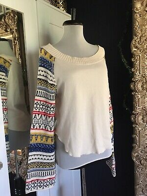 59fbece5 FREE PEOPLE FAIRGROUND Thermal Top NWT Med Orig $98 Ivory - $39.99 ...