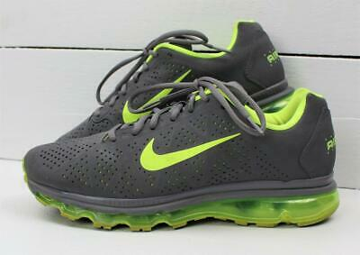c5e4293dc8 Nike Air Max 11 2011 Mens Gray Volt Neon Green Running Shoes Sneakers Size  10.5