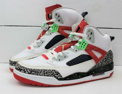 huge selection of 17121 bf281 NEW 2015 NIKE Air Jordan IV 4 Spizike White Red Posin Green Cement Shoes  Size 13