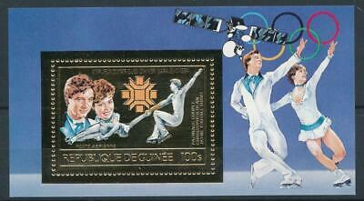 [16082] Guinea 1984 : Olympics - Good Very Fine MNH Sheet With Gold Stamp