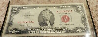 1963 Two Dollar $2 Bill Series *Red Seal* US Currency