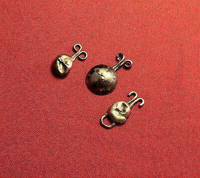 Lot of 3 Ancient Roman Silver Clothing Fittings