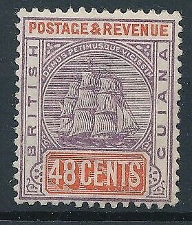 [51372] British Guiana 1889 good Mint no gum Very Fine stamp