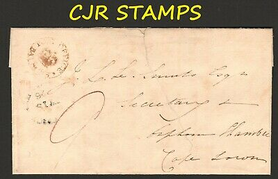 Cape Of Good Hope Cover  -    1826   Crown-In-Circle  Bathurst   -  To Cape Town
