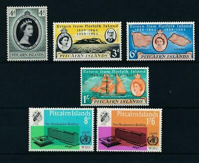 [51952] Pitcairn Island 1960s lot 3 good sets MNH Very Fine stamps