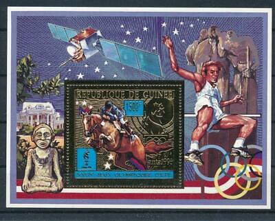[G47880] Guinea 1996 : Olympics - Good Very Fine MNH Sheet With Gold Stamp