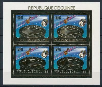[G47881] Guinea 1986 : Good Very Fine MNH Sheet With Gold Stamps