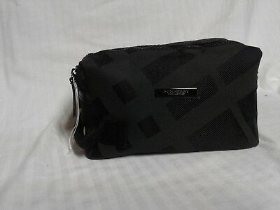 1dbd205beb9 BURBERRY BEAUTY Gray Black washbag toiletry pouch cosmetic case travel bag