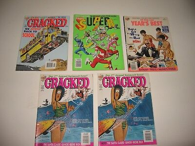 5 CRACKED Magazines #9 #96 #294 & Two #298 2nd Annual Swimsuit Issue (rare)