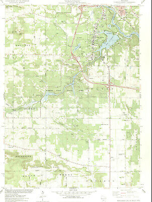Wisconsin Dells South Wisconsin 1975 Usgs Topographic Map