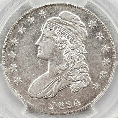 1834 Capped Bust Half Dollar - Overton 117 Sm. Date/Letters - PCGS AU 50 - R. 1