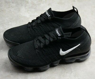 3ca15d3da14a Nike Air VaporMax 2 Flyknit Running Shoes Men AUTHENTIC bBLACK WHITE Size  8.5