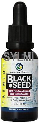 AUTHENTIC AMAZING HERBS Premium ORGANIC 100% Pure BLACK SEED OIL Cumin 1 oz/30ml