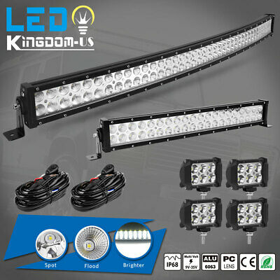 "42Inch LED Offroad Light Bar Combo + 20"" +4"" PODS SUV 4WD UTE For FORD JEEP 40"""