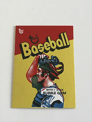 2018 Topps 80th Anniversary Wrapper Art #42 1973 Baseball SSP PRINT RUN: 287