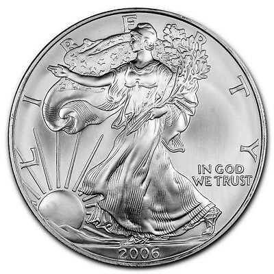 2006 Silver American Eagle BU Coin 1 oz US $1 Dollar U.S. Mint Uncirculated *26