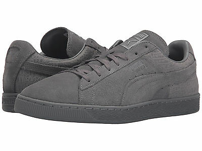 PUMA SUEDE CASUAL Emboss Lace Up Black Mens Crocodile Trainers ... aa21b37ce