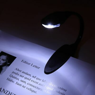 Stylish Flexible Portable Travel Book Reading Light Lamp Mini LED Clip Booklight