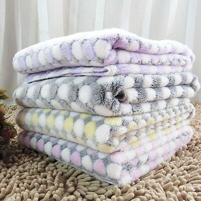New Pet Blanket Flannel Dog Cat Bed Soft Warm Sleeping Resting Cover Mat Cushion