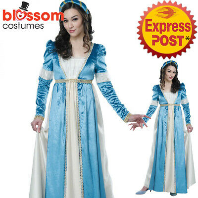 CA875 Lovely Juliet Medieval Maid Marion Renaissance Dress Costume Shakespeare