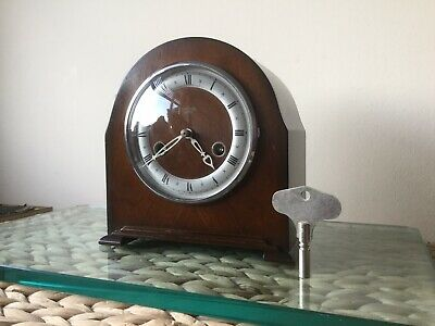Smiths Enfield 'Athlone' 8 Day Striking Clock, Working With Key, Fully Serviced