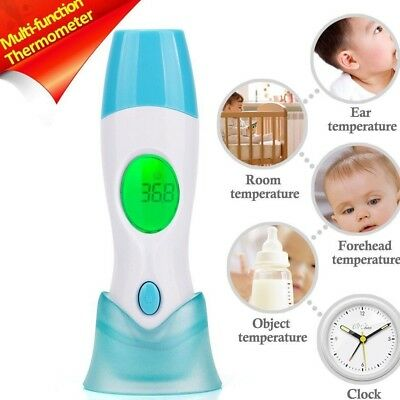 4 in 1 Ear and Forehead Thermometer Adult Baby Infrared IR LCD Digital Medical A