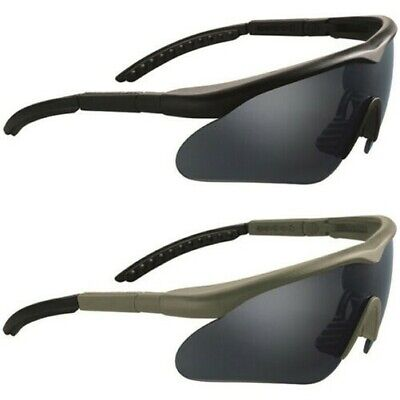 Tactical Protection Glasses Mil-Tec Swiss Eye Raptor Black, Tinted with 2