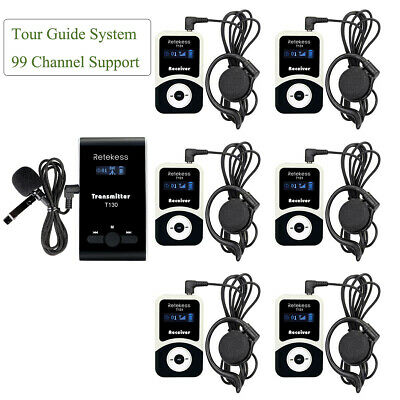 Retekess Wireless Tour Guide System 99CH Transmitter+Receiver Church Translation