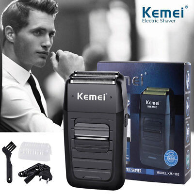 Rechargeable Men's Beard Electric Shaver Kemei Comfort Series Cordless Dual Foil
