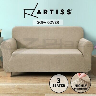 Artiss High Stretch Sofa Cover Couch Lounge Protector Slipcovers 3 Seater Sand