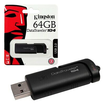 64GB Kingston Data Traveler 104 USB 2.0 Flash Drive USB Memory Stick 64GB