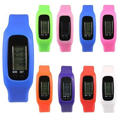 Silicone Band LCD Digital Pedometer Step Walking Running Calorie Counter WST 01
